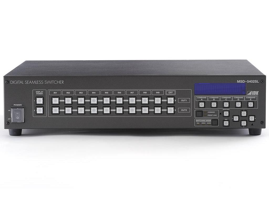 スキャンコンバータ内蔵デジタルシームレススイッチャ  IDK MSD-5402SL(9入力2出力)