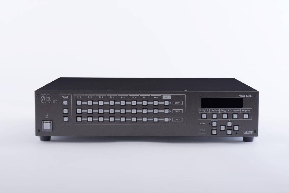 8入力3出力のスキャンコンバータ内蔵デジタルマルチスイッチャ IDK MSD-6203