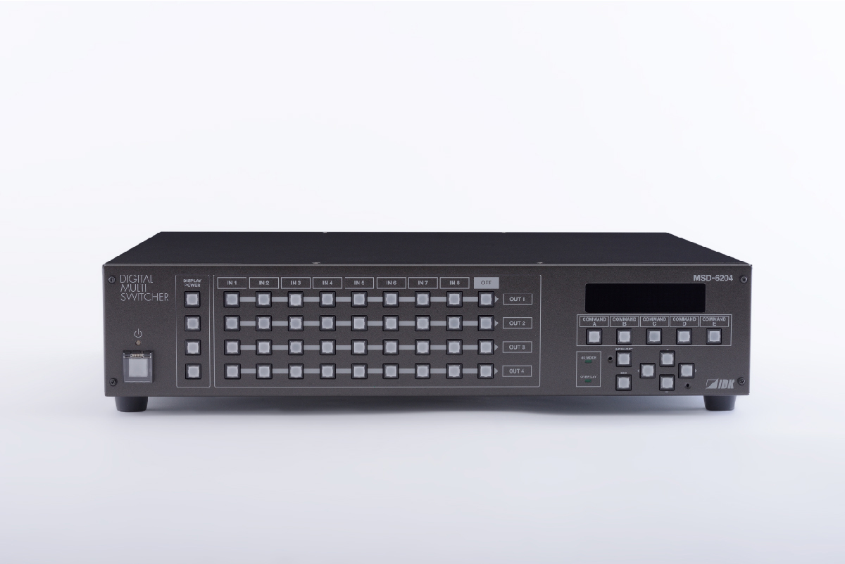 8入力6出力のスキャンコンバータ内蔵デジタルマルチスイッチャ IDK MSD-6206