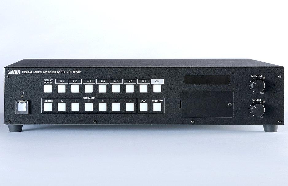 パワーアンプ内蔵 デジタルマルチスイッチャ IDK デジタルマルチスイッチャ MSD-701AMP