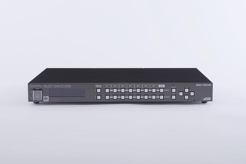 4K@60、HDCP 2.2 対応デジタルマルチスイッチャ IDK MSD-702UHD(7入力1~2出力)