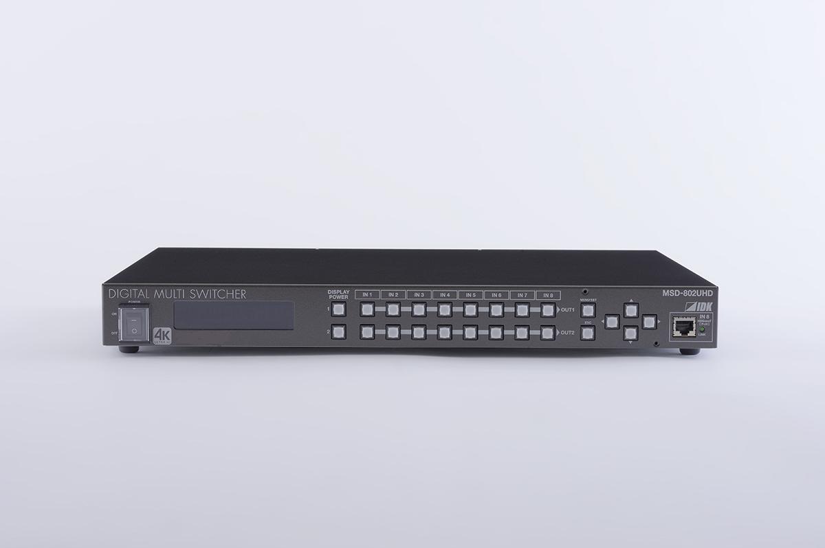 4K@60、HDCP 2.2対応デジタルマルチスイッチャ IDK MSD-802UHD(8入力1~2出力)