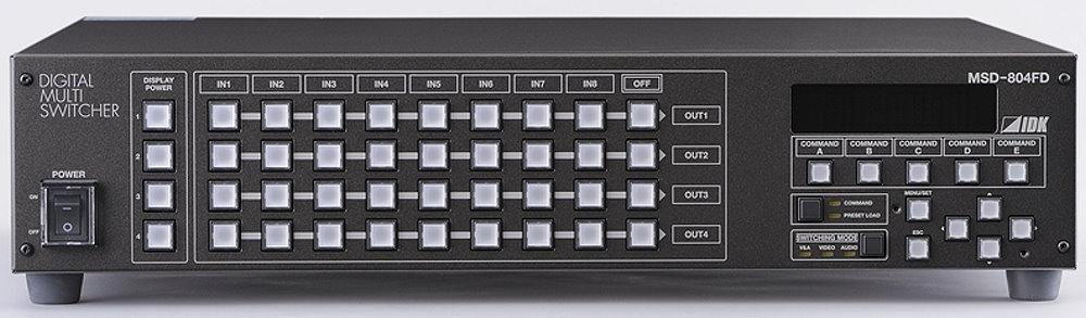 IDK デジタルマルチスイッチャ(HDBaseT 2出力オプション付) MSD-804FD T2