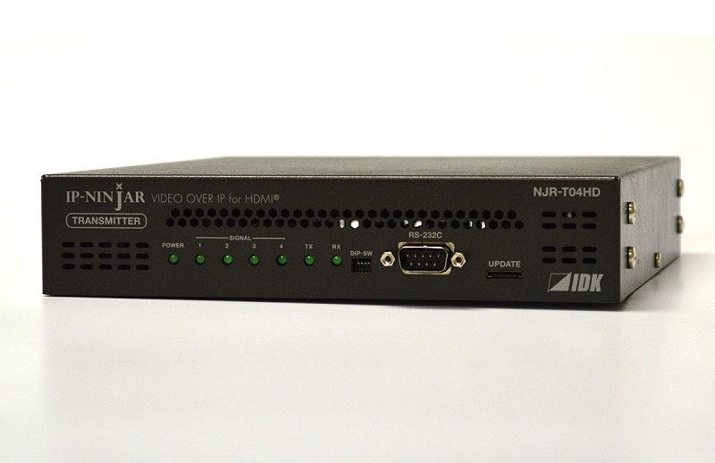 スキャンコンバータ内蔵 4系統HDMIネットワーク延長器 IDK NJR-R04HD-MM(受信機)