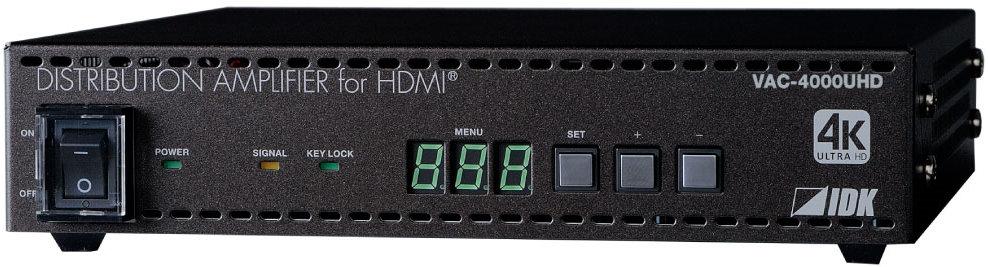 IDK 4K@60、HDCP 2.2 対応HDMI信号分配器 (オーディオディエンベデッダ付) VAC-4000UHD