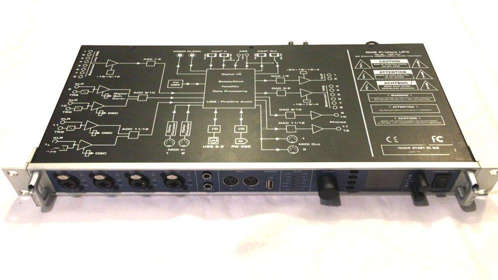 【セット】RME FireFace UFX Advanced Remote Control 最大30チャンネル 24ビット/192kHz ハイスピードUSB2.0/FW400オーディオインターフェイス 中古品