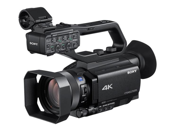 NXCAMカムコーダー SONY HXR-NX80 最新オートフォーカスと4K HDR記録対応。1.0型積層型CMOSセンサー搭載