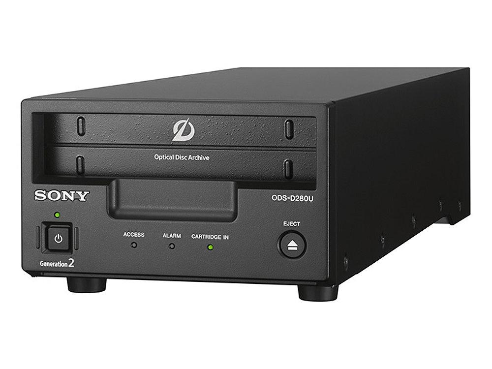 オプティカルディスク・アーカイブドライブユニット SONY ODS-D280U 平均転送速度2Gbpsの高速転送を実現する第2世代のドライブユニット