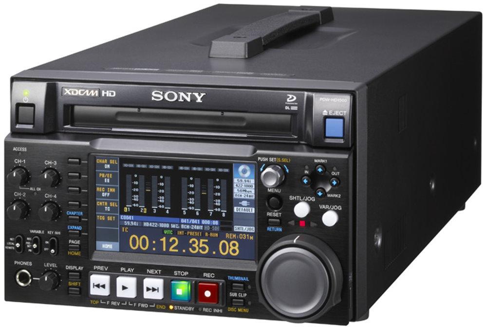 XDCAM HD422レコーダー SONY PDW-HD1500 デュアル光学ピックアップ搭載、ハーフラックサイズ