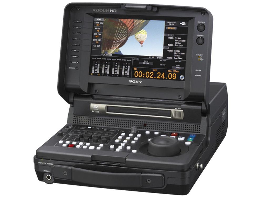XDCAM HD422 フィールドステーション SONY PDW-HR1 リニア感覚で簡易編集が可能、モバイル運用の幅を広げるXDCAM HD422フィールドステーション
