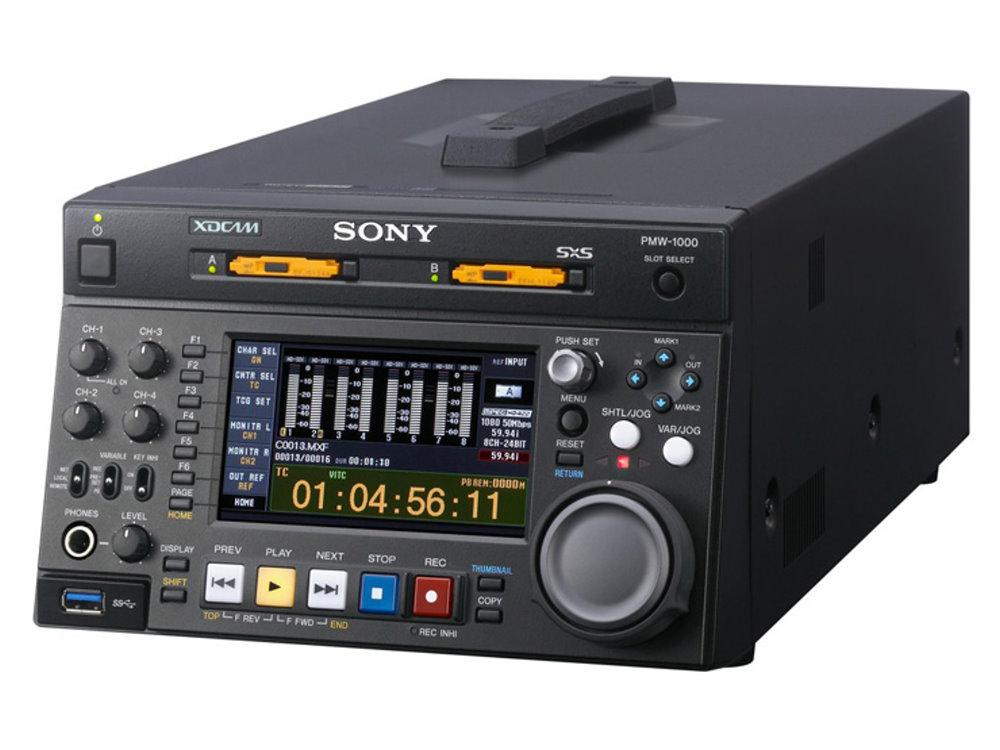"""XDCAM HD422 レコーダー SONY PMW-1000 MPEG HD422に加え、""""XAVC""""HDフォーマットにも対応したスタジオレコーダー"""