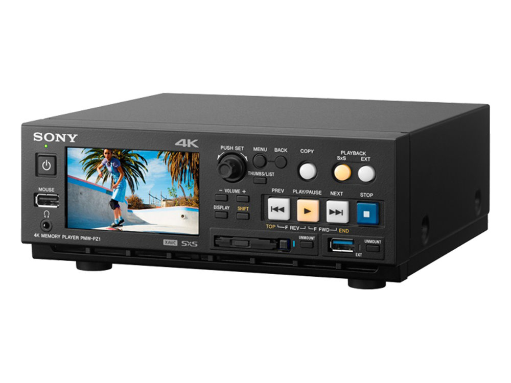 4K メモリープレーヤー SONY XDCAM PMW-PZ1 小型軽量、シンプルな操作性で60pのXAVC映像を手軽に再生
