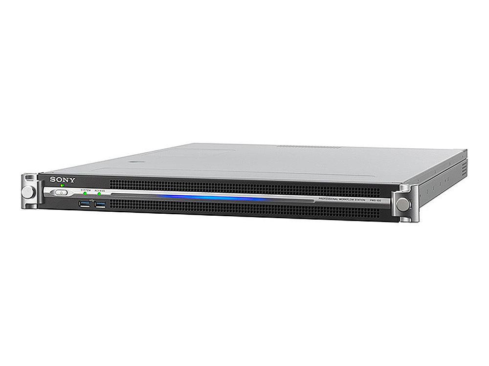 メディアゲートウェイステーション SONY PWS-100MG1 PWS-4400内の映像クリップをオプティカルディスク・アーカイブやUSB HDDなど外部メディアへ転送するためのソフトウェアがプリインストールされた1Uサーバー
