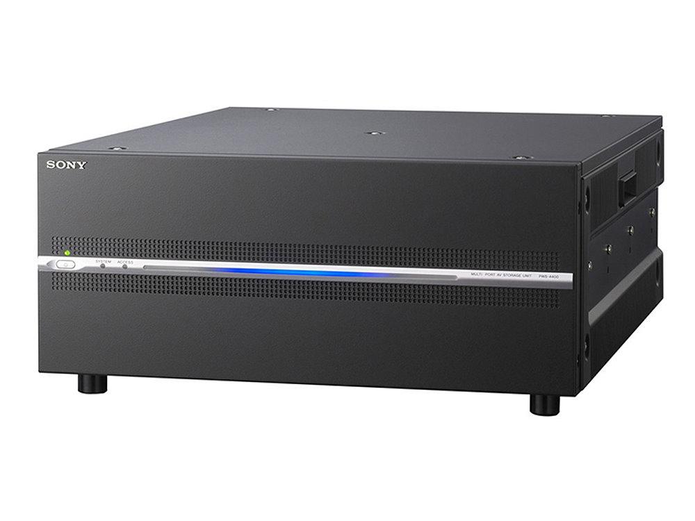 マルチポートAVストレージユニット SONY PWS-4400 XAVCフォーマットを採用し、4KからHDまでをカバーするマルチチャンネルサーバー