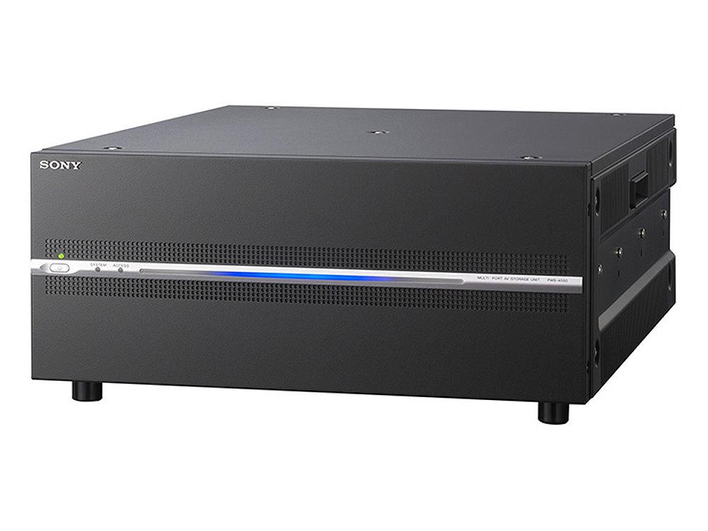 マルチポートAVストレージユニット SONY PWS-4500 リダンダント電源・サーバー間ファイル共有機能を標準装備したネットワーク・メディア・インターフェース対応ビデオサーバー