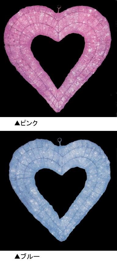 ★クリスマスイルミネーション★バレンタインにもクリスマスにも使えます! LEDクリスタルグローハート(ピンク、ブルー)
