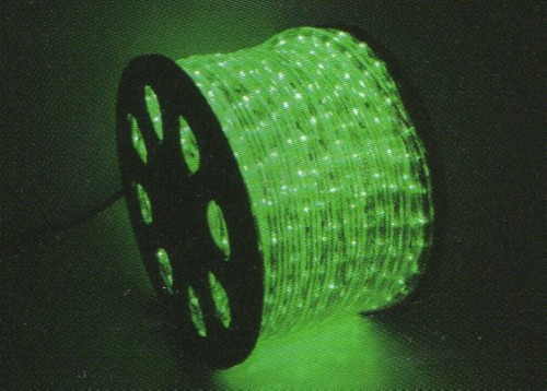 ★クリスマスイルミネーション★LEDロープライト40mグリーン 高輝度、ハイクオリティーなロープライトです!