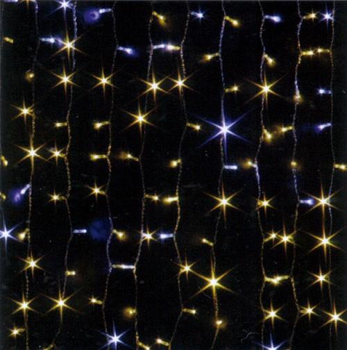★クリスマスイルミネーション★LEDツインクルカーテンライト ウォームホワイト&ホワイト
