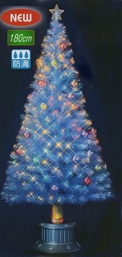 ★クリスマスイルミネーション★180cmクラッシュチップボールホワイトファイバーツリー