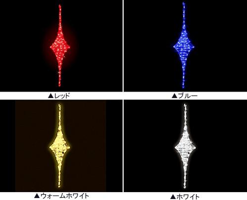 ★クリスマスイルミネーション★LEDクリスタルグローダイヤ(レッド、ブルー、ウォームホワイト、ホワイト)