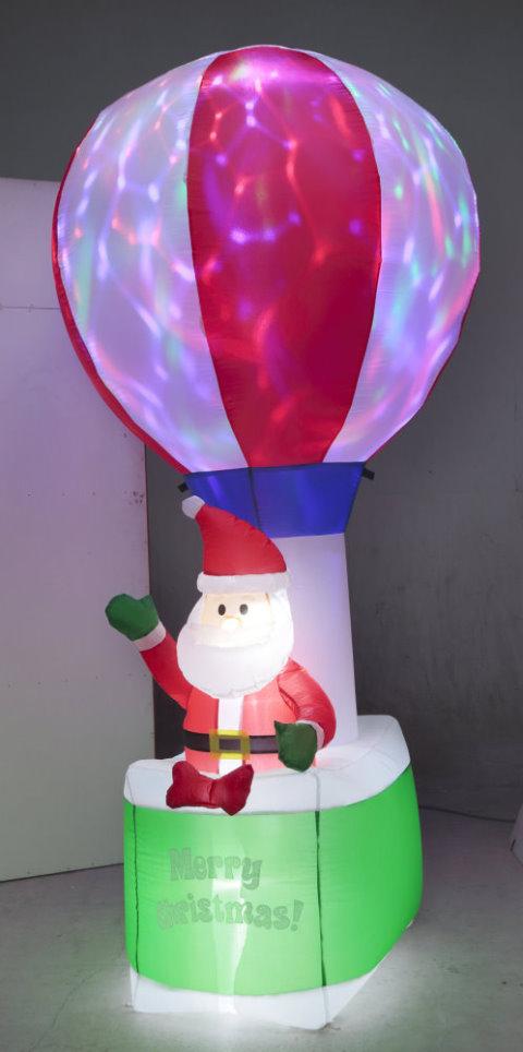 ★クリスマスイルミネーション★エアーディスコライトディスプレイ バルーンサンタ キラキラ光ります!
