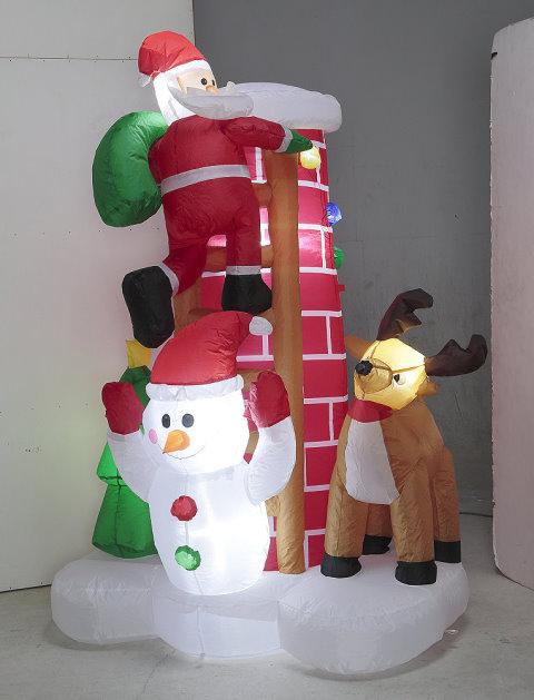 ★クリスマスイルミネーション★エアーディスプレイ はしごサンタ