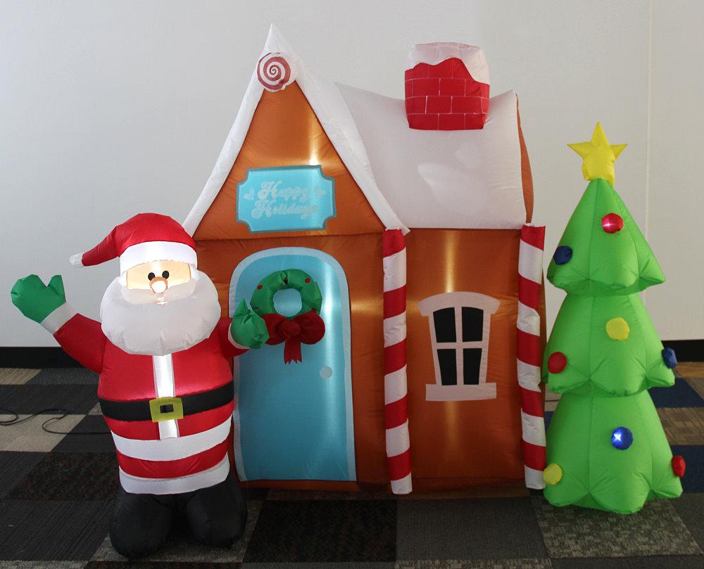 ★クリスマスイルミネーション★エアーディスプレイ サンタハウス