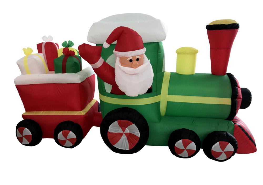 ★クリスマスイルミネーション★エアーディスプレイ クリスマス サンタプレゼントトレイン2車両