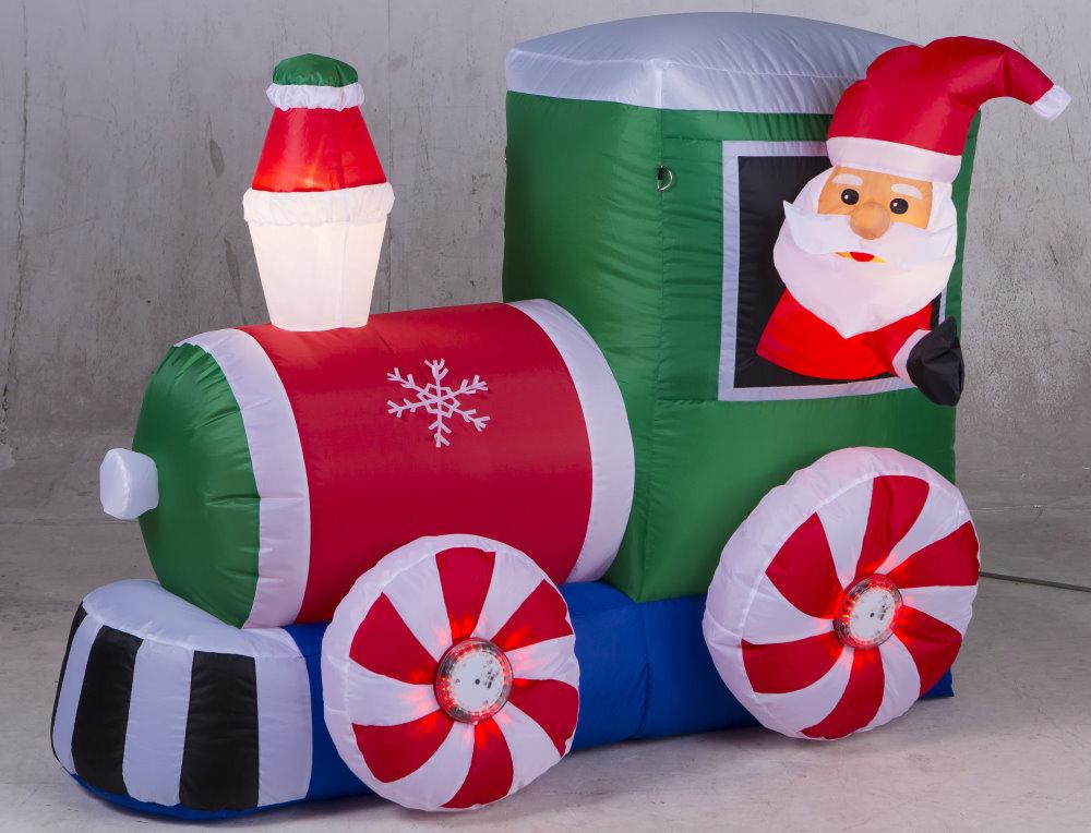 ★クリスマスイルミネーション★ローテーティングライトエアーディスプレイ GO!GO!サンタトレイン