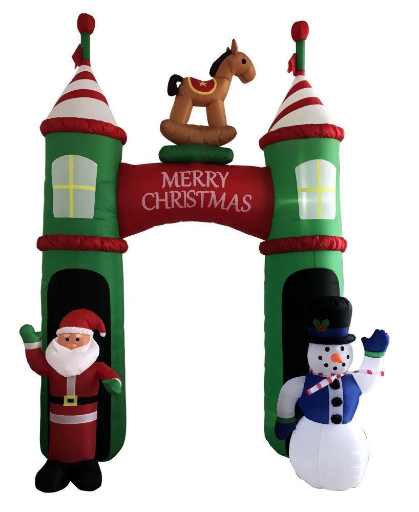★クリスマスイルミネーション★エアディスプレイアーチ Welcomeクリスマスアーチ