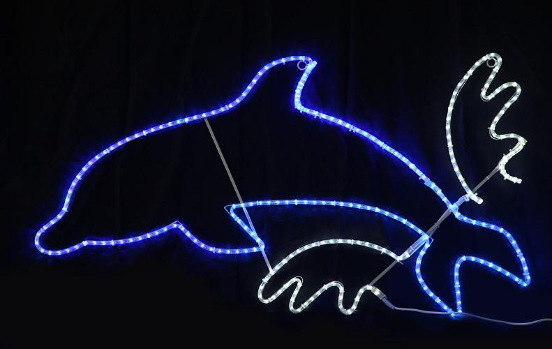 ★アニマルイルミネーション★LEDジャンプイルカ  暗い世界をイルカが飛び跳ねます!!