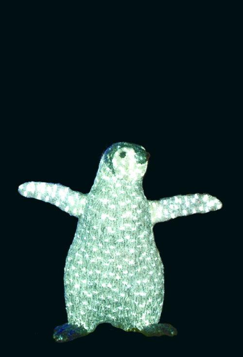 高速配送 ★アニマルイルミネーション★LEDクリスタルグロー ペンギン ヒナ:カラーマーキングファクトリー-エクステリア・ガーデンファニチャー