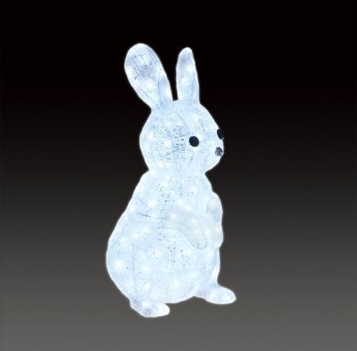 ★アニマルイルミネーション★LEDクリスタルグロー ウサギ かわいいかわいいかわいい!