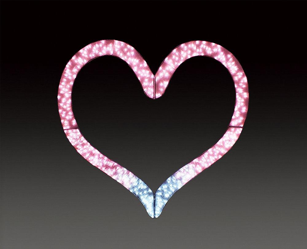 ★イルミネーション★バレンタインシリーズ LEDクリスタルグロー ビッグハートLサイズ