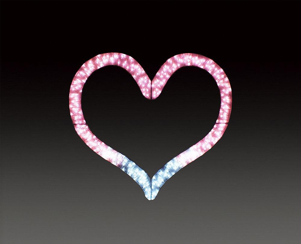 ★イルミネーション★バレンタインシリーズ LEDクリスタルグロー ビッグハートSサイズ