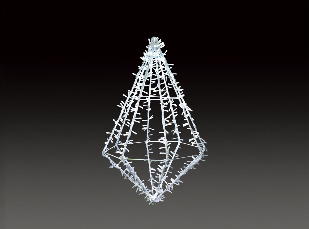 ★クリスマスイルミネーション★LEDメテオダイヤ ホワイトLサイズ 小さいサイズもあります!