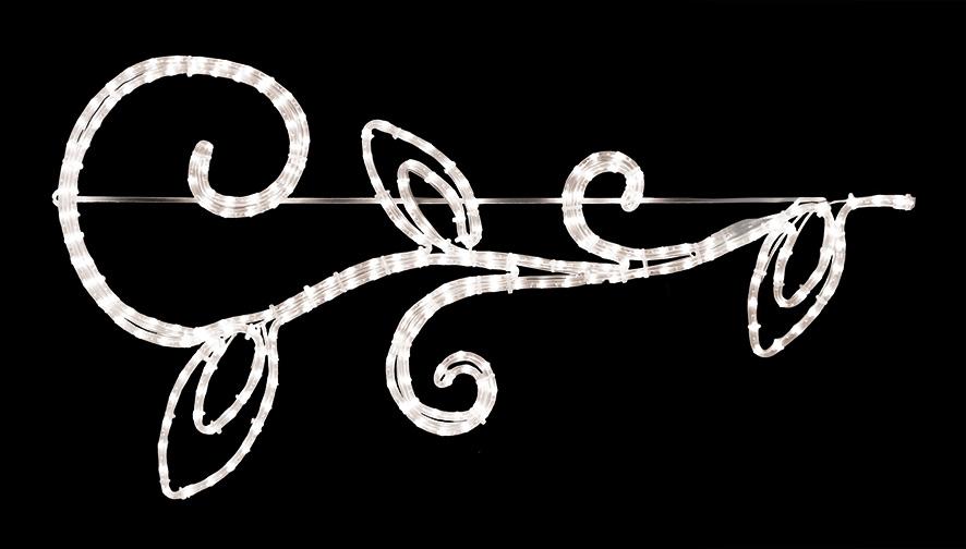 ★クリスマスイルミネーション★LEDロープライト ゴシック トリプルリーフブランチ たくさん買って飾るのがオススメ!