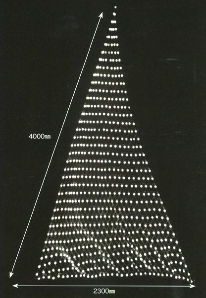 ★クリスマスイルミネーション★LEDスリーポイントネットライト ホワイト 壁や天井に張ったり、木に巻きつけたり様々な使い方が可能