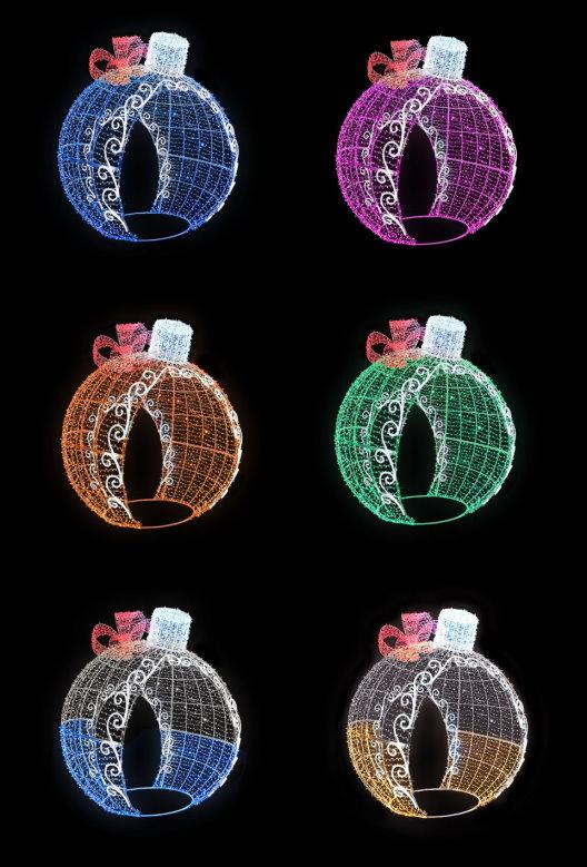 ★クリスマスイルミネーション★LEDデコレーションボール カラフルな6色から選んでください! SNSのフォトスポットになるかもしれない!