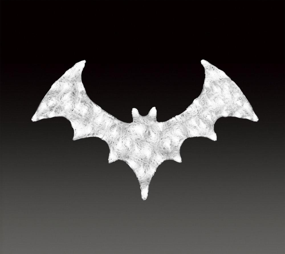 ★ハロウィンイルミネーション★LEDクリスタルグロー コウモリ ホワイト、パープル Halloween