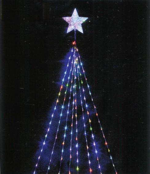 ★クリスマスイルミネーション★キラキラがとってもすごい!LEDナイアガラライトDX(マルチカラー)