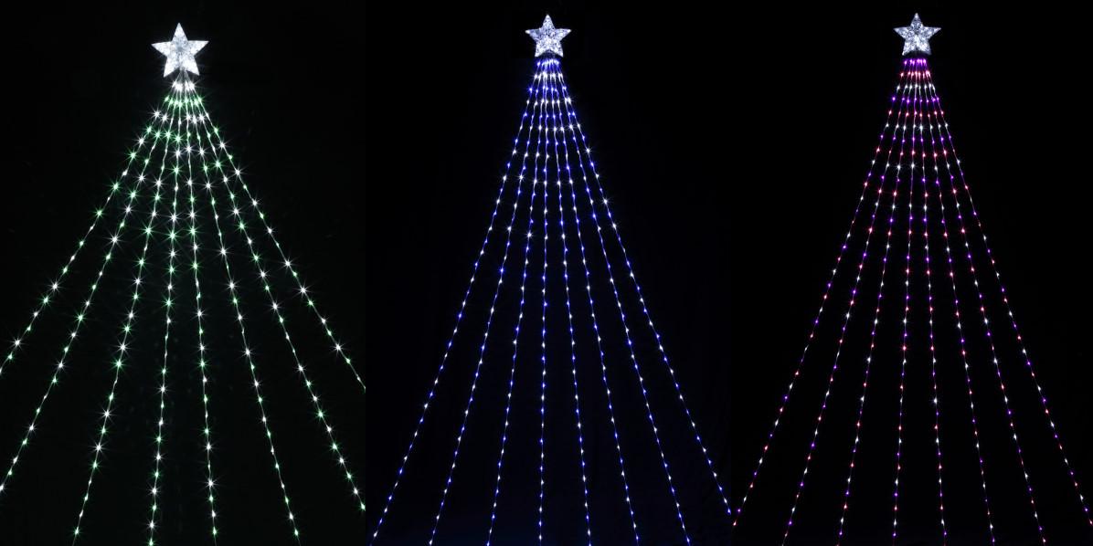 ★クリスマスイルミネーション★ 夜空に振る星 LEDナイアガラライトDX