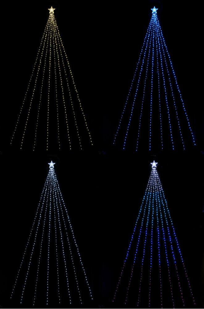 ★クリスマスイルミネーション★LEDナイアガラライトDXスター ゴールド、ブルー、ホワイト、ブルーグラーデーションの4色から選んでください!