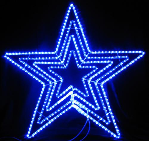 ★クリスマスイルミネーション★LEDビッグスター青色