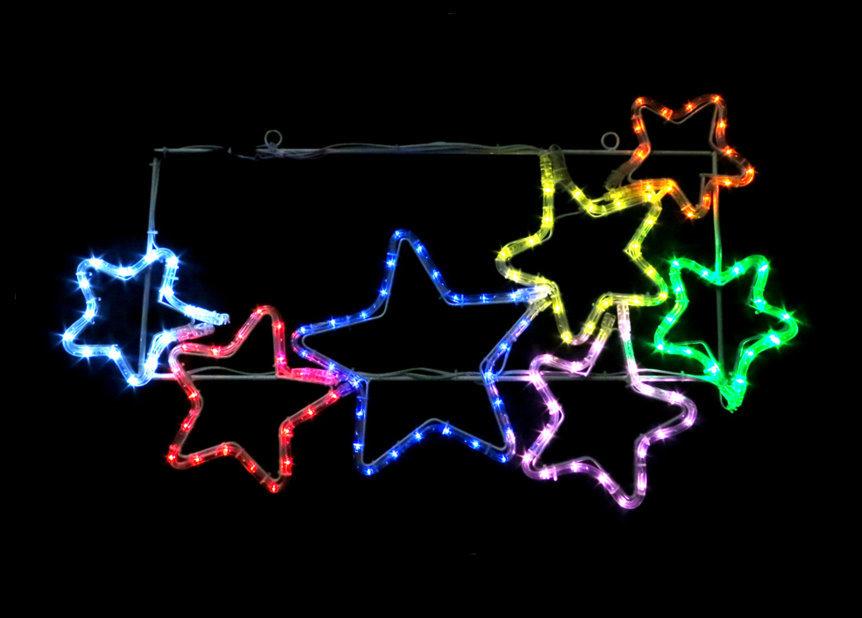 ★クリスマスイルミネーション★LEDチューブライト7連スター 北斗七星ではありません。