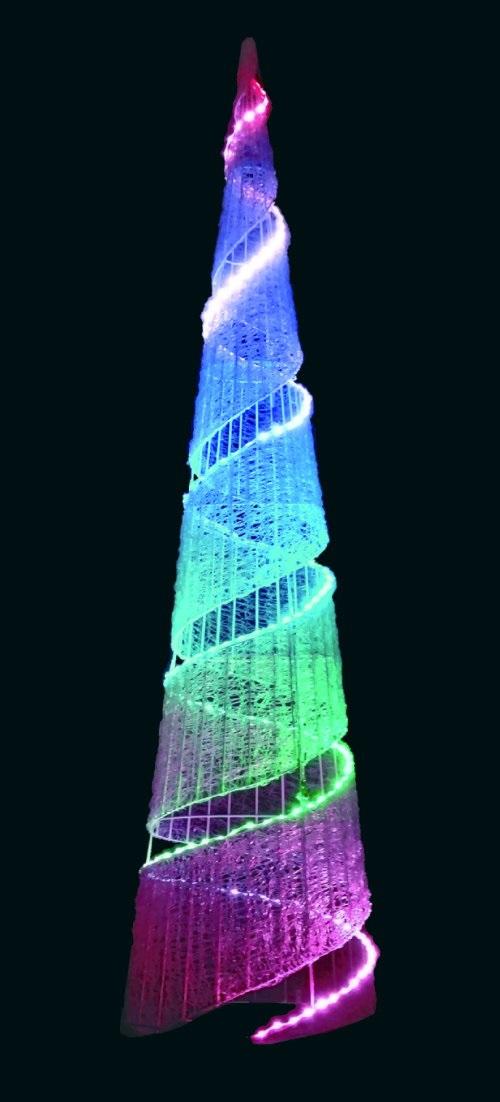 ★クリスマスイルミネーション★LEDクリスタルグロー RGBスパイラルコーン キラキラ輝く一味違うツリー!