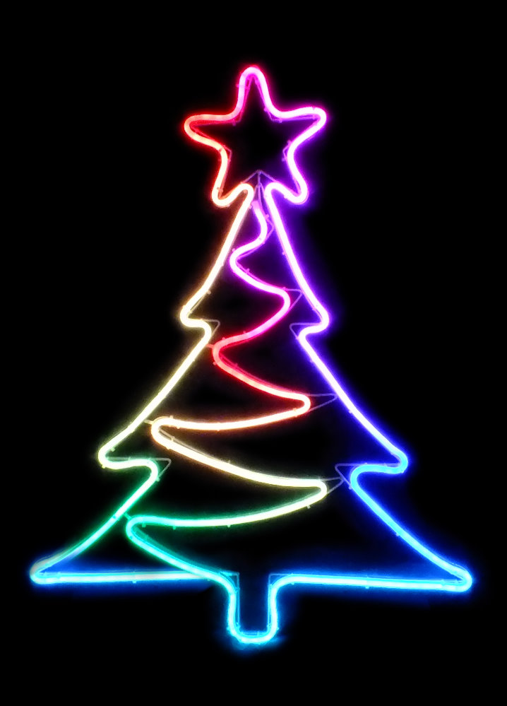 ★クリスマスイルミネーション★LEDフルカラー 2Dモチーフ ツリー