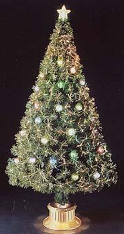 ★クリスマスイルミネーション★150cmNEWファイバーツリー(スケルトンボール付)