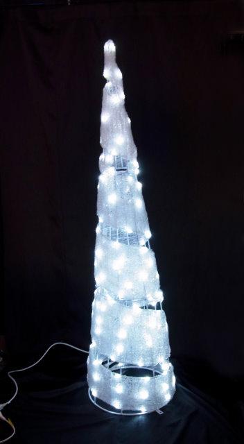 ★クリスマスイルミネーション★3Dモチーフ スパイラルツリー