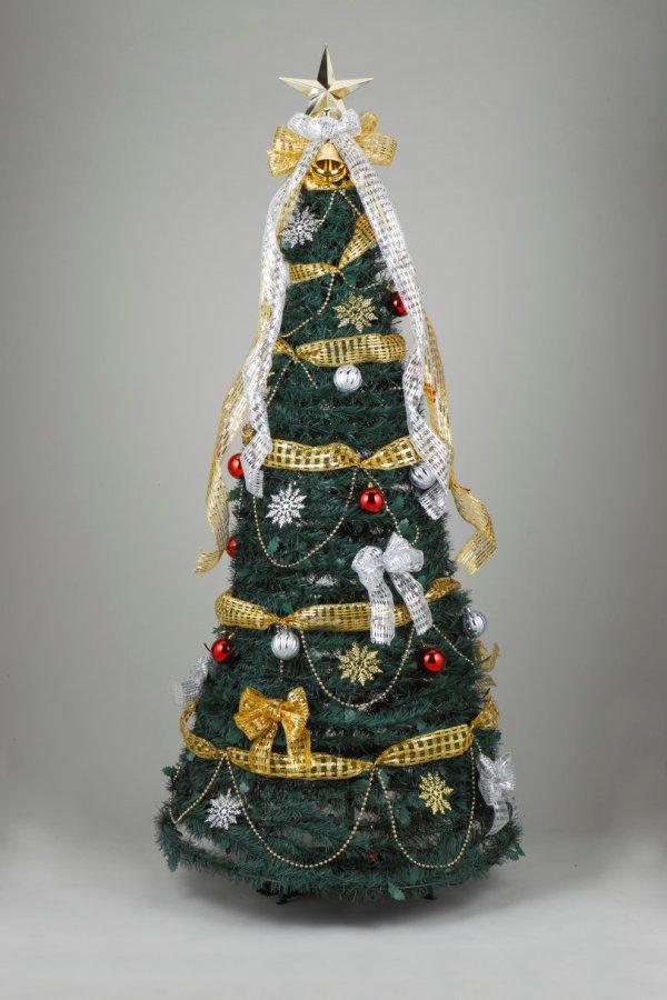 ★クリスマスイルミネーション★180cmフォールディングエレガントツリー とってっもゴージャスです!